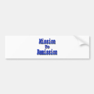 Mission To Remission blu Bumper Sticker