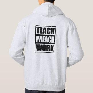 Missionary Gift Teach Preach Work Hoodie