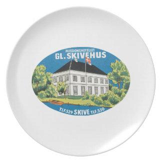 Missionshetellet GL. Skivehus Party Plate