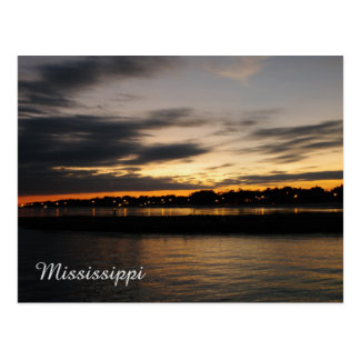Mississipi Sunset Postcard