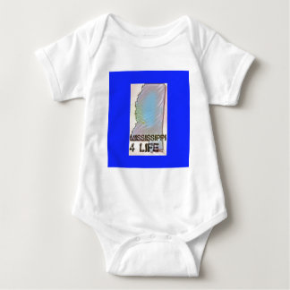"""Mississippi 4 Life"" State Map Pride Design Baby Bodysuit"