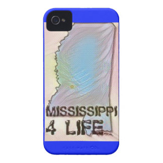 """Mississippi 4 Life"" State Map Pride Design Case-Mate iPhone 4 Cases"