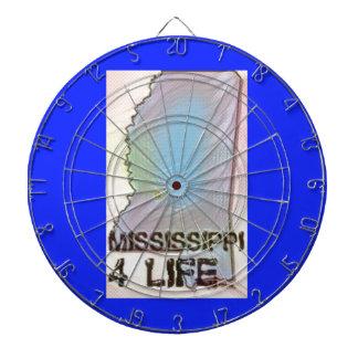"""""""Mississippi 4 Life"""" State Map Pride Design Dartboard"""