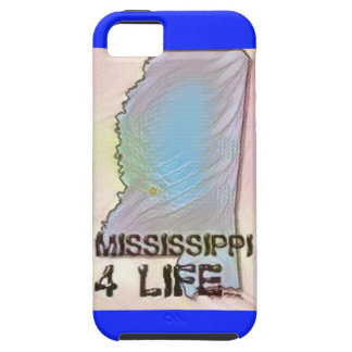 """Mississippi 4 Life"" State Map Pride Design iPhone 5 Covers"