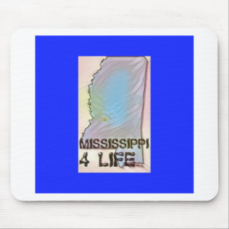 """""""Mississippi 4 Life"""" State Map Pride Design Mouse Pad"""