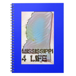 """Mississippi 4 Life"" State Map Pride Design Notebook"