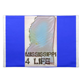 """""""Mississippi 4 Life"""" State Map Pride Design Placemat"""