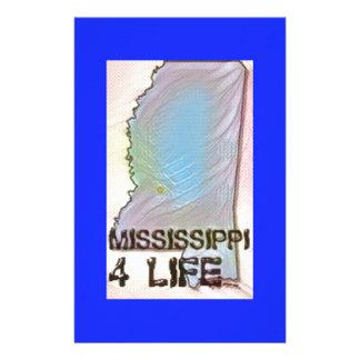 """Mississippi 4 Life"" State Map Pride Design Stationery"