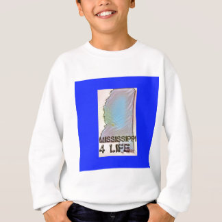 """Mississippi 4 Life"" State Map Pride Design Sweatshirt"