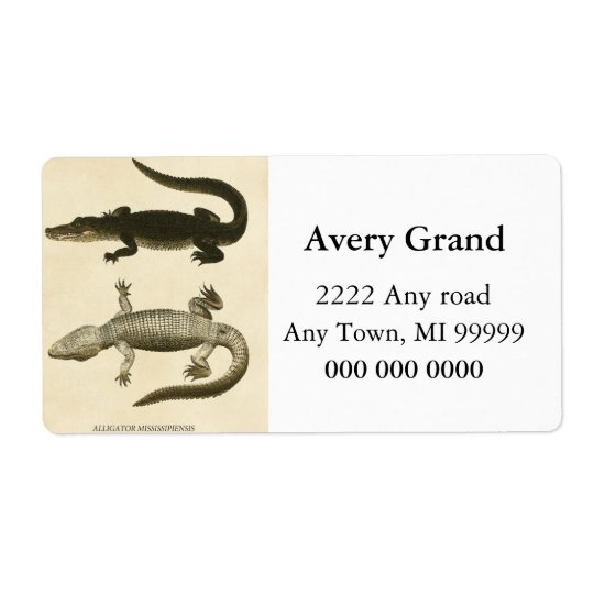 Mississippi Alligator Shipping Label
