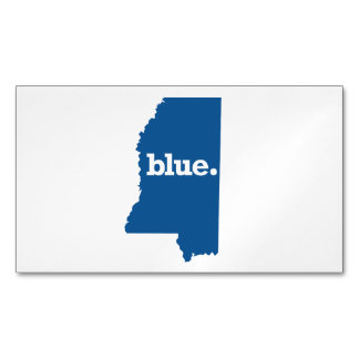 MISSISSIPPI BLUE STATE MAGNETIC BUSINESS CARDS