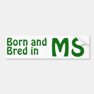 Mississippi Bred (Bumper) Sticker Bumper Sticker