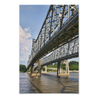 Mississippi Bridge at Natchez Photographic Print