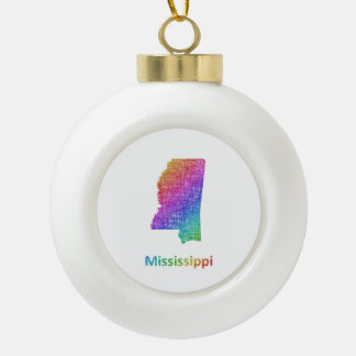 Mississippi Ceramic Ball Decoration