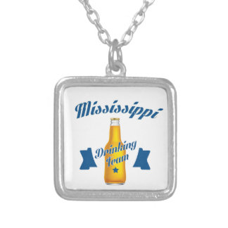 Mississippi Drinking team Silver Plated Necklace