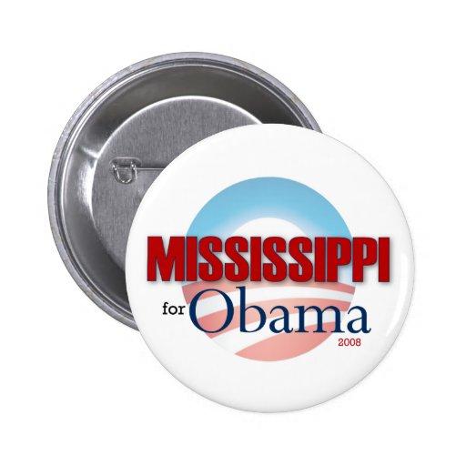 MISSISSIPPI for Obama Pinback Buttons