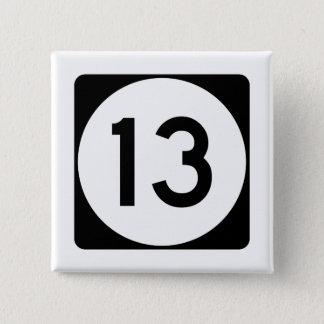 Mississippi Highway 13 15 Cm Square Badge