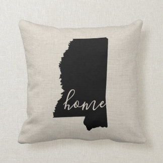 Mississippi Home State Throw Pillow