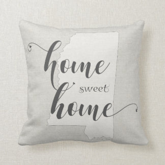Mississippi - Home Sweet Home burlap-look Cushion