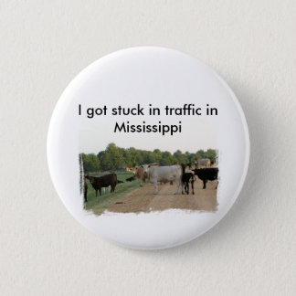 Mississippi Levee Cows 6 Cm Round Badge