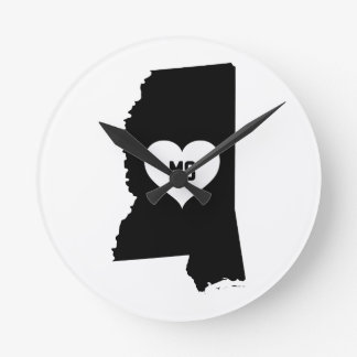 Mississippi Love Round Clock