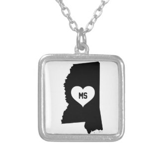Mississippi Love Silver Plated Necklace