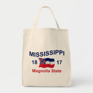 Mississippi Magnolia State Grocery Tote Bag