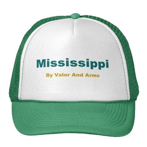 Mississippi-Magnolia State Mesh Hats
