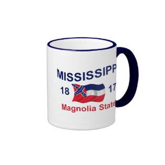 Mississippi Magnolia State Ringer Coffee Mug