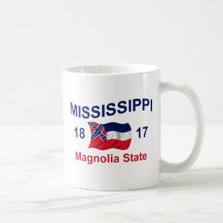 Mississippi Magnolia State Classic White Coffee Mug