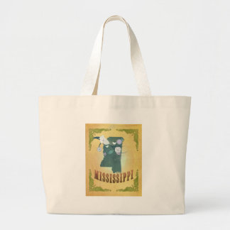 Mississippi Map With Lovely Birds Tote Bag