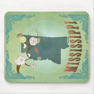 Mississippi Modern Vintage State Map – Green Mouse Pad