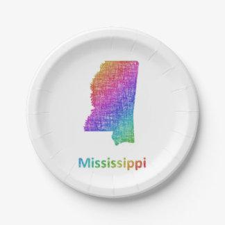 Mississippi Paper Plate