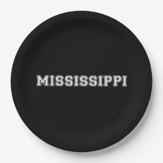 Mississippi Paper Plate