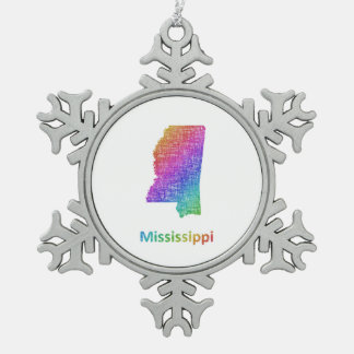 Mississippi Pewter Snowflake Decoration
