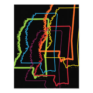 mississippi pride blur 11 cm x 14 cm invitation card