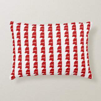 MISSISSIPPI RED STATE ACCENT CUSHION