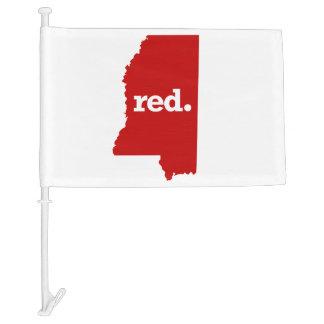 MISSISSIPPI RED STATE CAR FLAG
