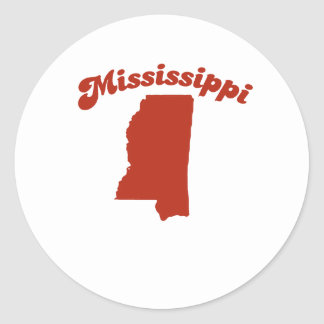 MISSISSIPPI Red State Round Stickers