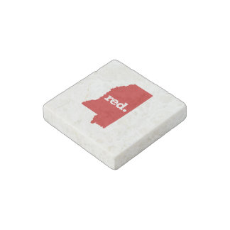 MISSISSIPPI RED STATE STONE MAGNET
