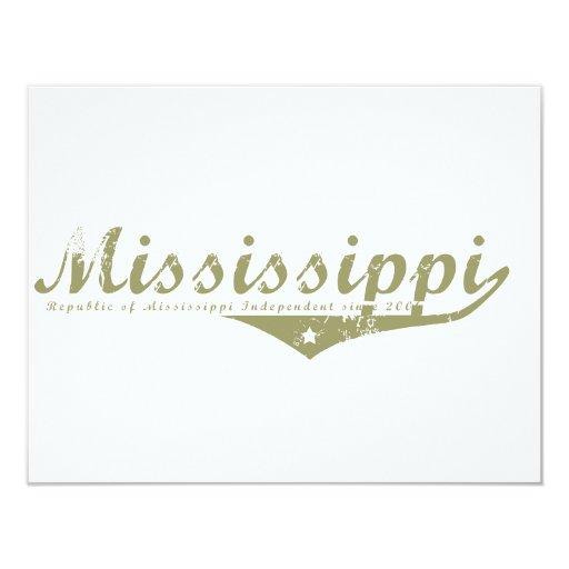 Mississippi Revolution T-shirts 11 Cm X 14 Cm Invitation Card