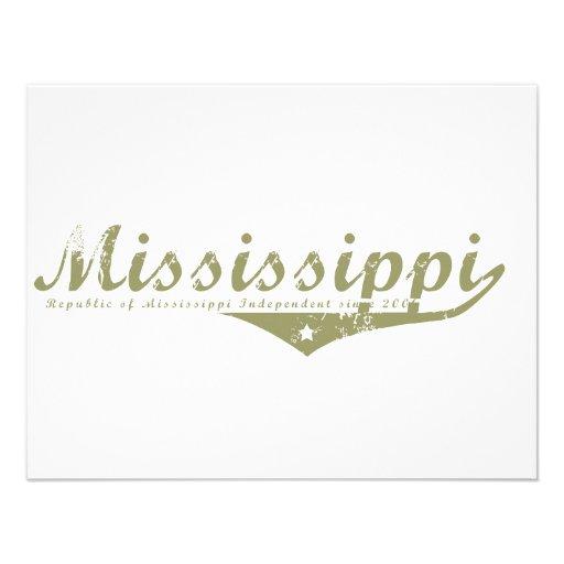Mississippi Revolution T-shirts Personalized Invitation