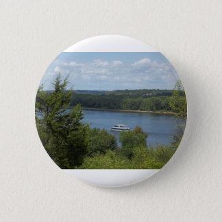 Mississippi River boat 6 Cm Round Badge
