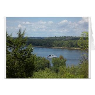 Mississippi River boat Card