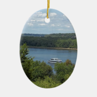 Mississippi River boat Ceramic Oval Decoration