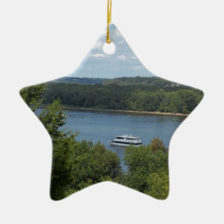 Mississippi River boat Ceramic Star Decoration