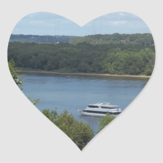 Mississippi River Boat Heart Sticker