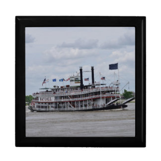 Mississippi River Boat New Orleans Large Square Gift Box