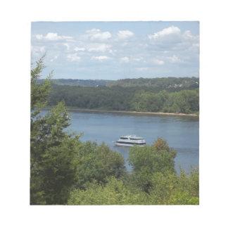 Mississippi River boat Notepad