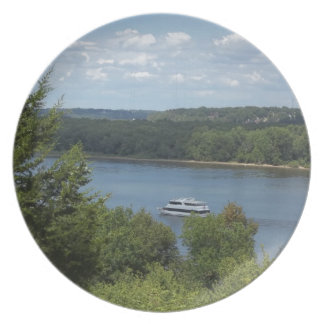 Mississippi River boat Plate